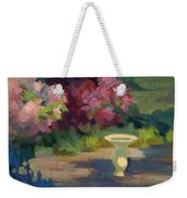 Bird Bath And Rhodies Weekender Tote Bag