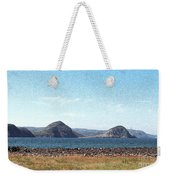 Bird Blind On The Beach Sketch Weekender Tote Bag