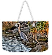 Bird By The Water Weekender Tote Bag