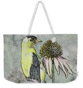 Bird Eating Seeds For One Digital Art Weekender Tote Bag