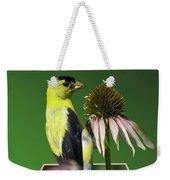 Bird Eating Seeds Weekender Tote Bag