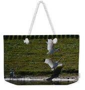 Bird Fight Weekender Tote Bag