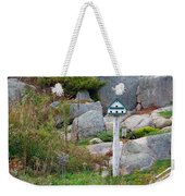 Bird House And Chimes Weekender Tote Bag