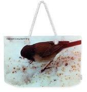 Bird In Snow 2 Weekender Tote Bag