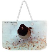 Bird In Snow Weekender Tote Bag