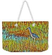Bird In The Reeds Weekender Tote Bag