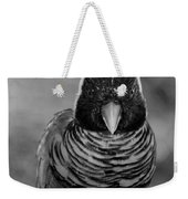 Bird In Your Face Bw Weekender Tote Bag