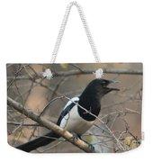 Bird Magpie Weekender Tote Bag