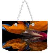Bird Of Paradise Reflective Pool Weekender Tote Bag