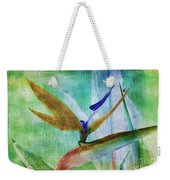 Bird Of Paradise Watercolor Weekender Tote Bag