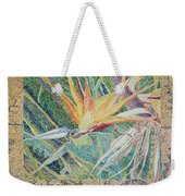 Bird Of Paradise With Tapa Cloth Weekender Tote Bag