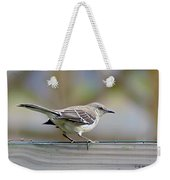 Bird On The Fence Weekender Tote Bag