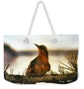 Bird On The Wire Weekender Tote Bag