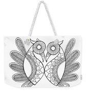Bird Parrots Weekender Tote Bag by MGL Meiklejohn Graphics Licensing