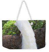 Bird - White Peacock Pose- Luther Fine Art Weekender Tote Bag