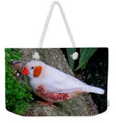 Male Zebra Finch Weekender Tote Bag