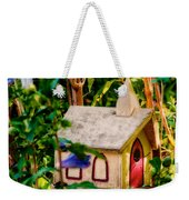 Birdhouse Church Weekender Tote Bag