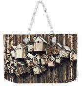 Birdhouse Condominium Weekender Tote Bag