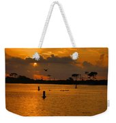 Birds And Bouys Sunrise Weekender Tote Bag