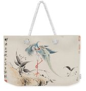 Birds And Flowers Weekender Tote Bag