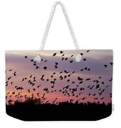 Birds At Sunrise Weekender Tote Bag