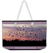 Birds At Sunrise Poster Weekender Tote Bag