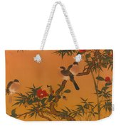 Birds Bamboo And Camellias Weekender Tote Bag
