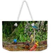 Birds Bathing Weekender Tote Bag