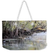 Birds Cold Morning Fishing Weekender Tote Bag