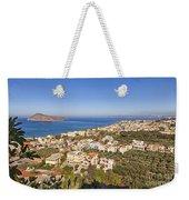 Birds Eye View Of Crete Greece Weekender Tote Bag