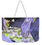 Birds - Fighting - Herons Weekender Tote Bag