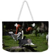 Birds Gather Weekender Tote Bag