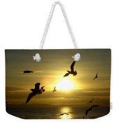 Birds Gathering At Sunset Weekender Tote Bag