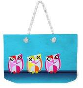 Birds In Blue  Weekender Tote Bag