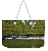 Birds In Fight Weekender Tote Bag