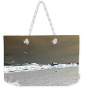 Birds In Flight Over Lafitte Bay Weekender Tote Bag