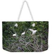 Birds In The Brush Weekender Tote Bag