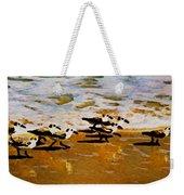 Birds In The Surf Weekender Tote Bag