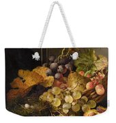 Birds Nest Butterfly And Cherries Weekender Tote Bag