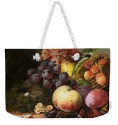 Birds Nest Butterfly And Fruit Basket Weekender Tote Bag by Edward Ladell