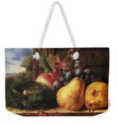 Birds Nest Butterfly And Fruit Weekender Tote Bag