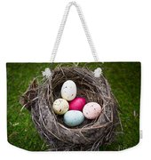 Bird's Nest With Easter Eggs Weekender Tote Bag