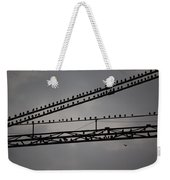 Birds On Crane Weekender Tote Bag