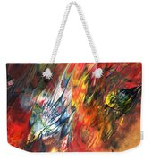 Birds On Fire Weekender Tote Bag