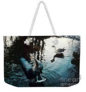 Birds On The Mill Pond Weekender Tote Bag