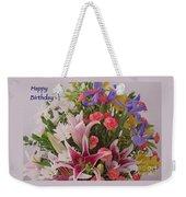 Birthday Bouquet Card Weekender Tote Bag