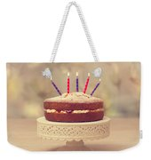 Birthday Cake Weekender Tote Bag