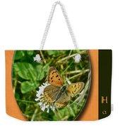 Birthday Greeting Card - American Copper Butterfly Weekender Tote Bag