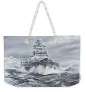 Bismarck Off Greenland Coast  Weekender Tote Bag
