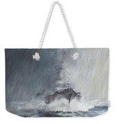 Bismarck Through Curtains Of Rain Weekender Tote Bag